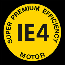 Logótipo do motor super Premium Efficiency IE4