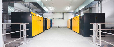 Blower station: Four FBS series rotary screw blowers are in use at BMI in Zapfendorf